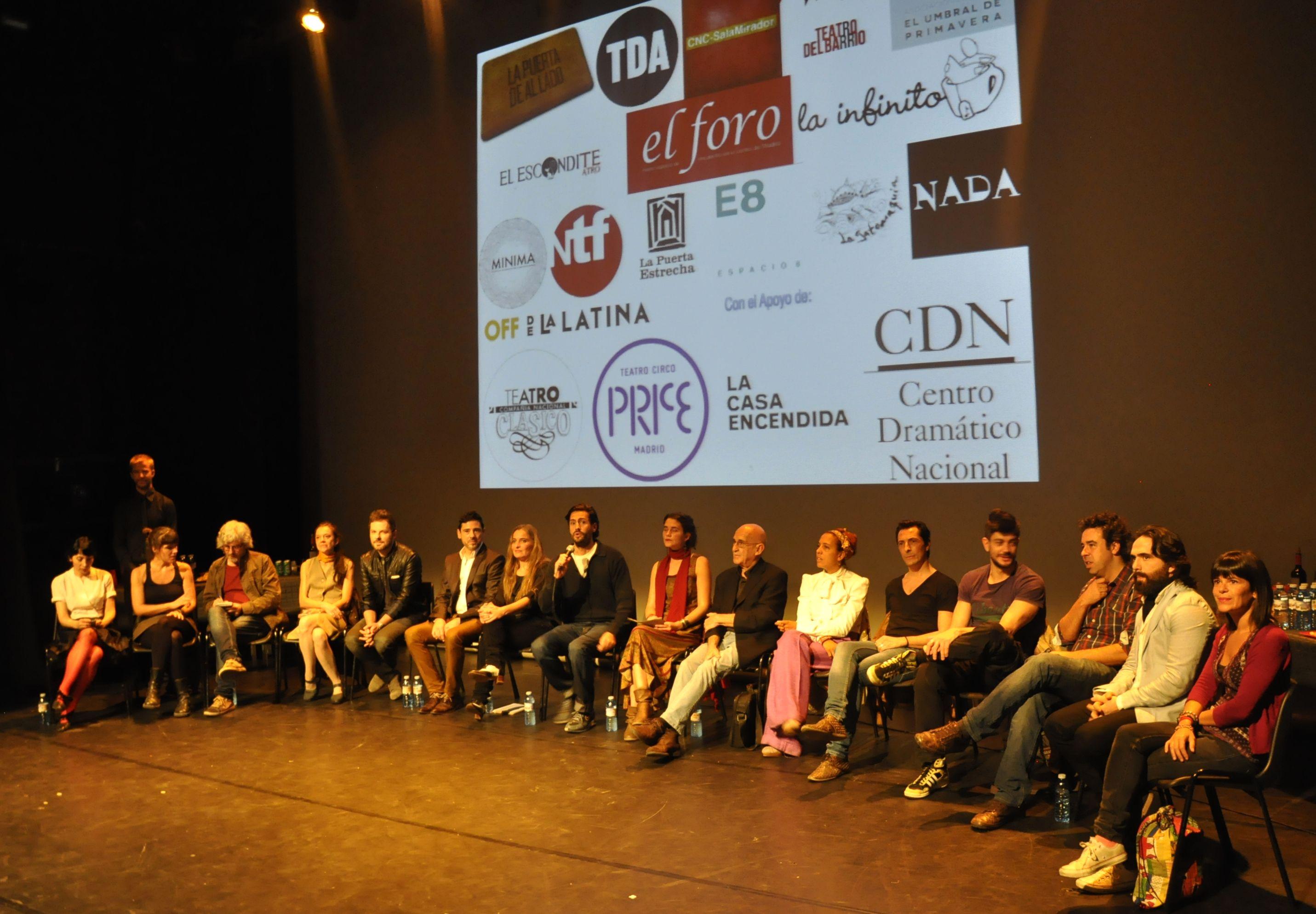 Presentación de 'Lavapiés Barrio de Teatros' en la Sala Mirador de Madrid. BF